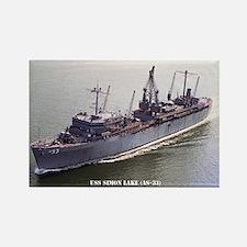 USS SIMON LAKE Rectangle Magnet
