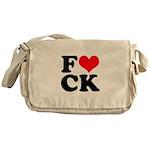 Fucking love Messenger Bag