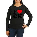 Fucking love Women's Long Sleeve Dark T-Shirt