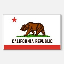 Flag of California Rectangle Decal