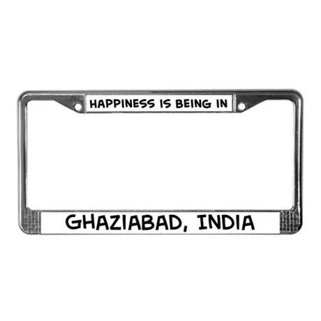Happiness is Ghaziabad License Plate Frame