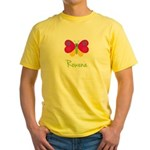 Rowena The Butterfly Yellow T-Shirt
