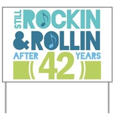 42nd Anniversary Rock N Roll Yard Sign