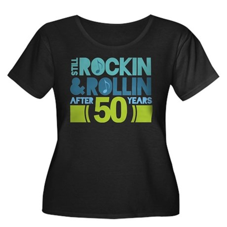 50th Anniversary Rock N Roll Women's Plus Size Sco