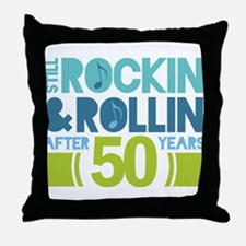 50th Anniversary Rock N Roll Throw Pillow