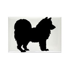 Chow Chow Silhouette Rectangle Magnet (100 pack)