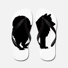Chow Chow Silhouette Flip Flops