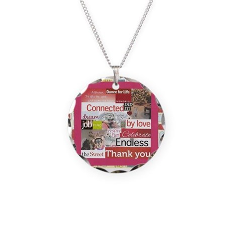 Christmas & Dogs Necklace Circle Charm