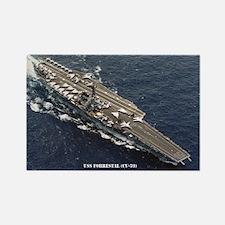 USS FORRESTAL Rectangle Magnet