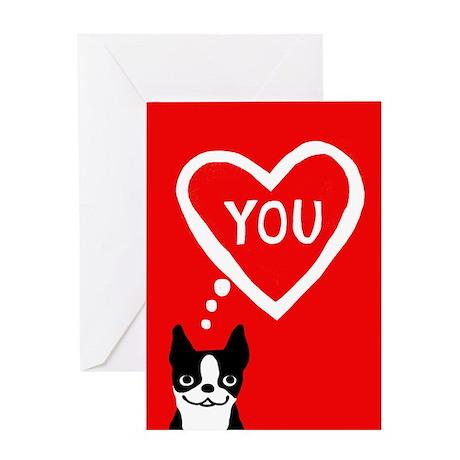 Boston Terrier Valentine Love Card
