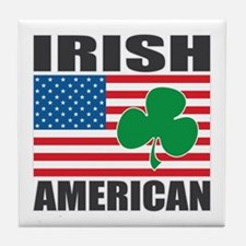 Irish American Flag Tile Coaster