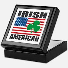 Irish American Flag Keepsake Box