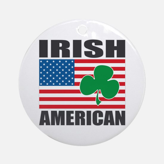 Irish American Flag Ornament (Round)