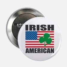 "Irish American Flag 2.25"" Button"