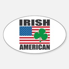 Irish American Flag Sticker (Oval)