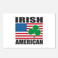 Irish American Flag Postcards (Package of 8)