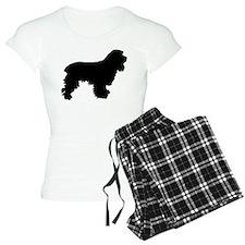 Cocker Spaniel Silhouette Pajamas