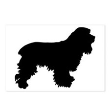 Cocker Spaniel Silhouette Postcards (Package of 8)