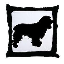 Cocker Spaniel Silhouette Throw Pillow