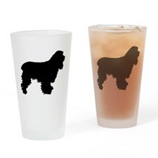 Cocker Spaniel Silhouette Drinking Glass