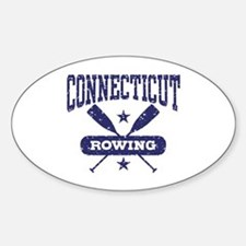 Connecticut Rowing Sticker (Oval)