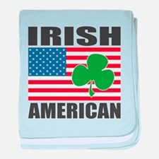 Irish American Flag baby blanket