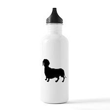 Dachshund Silhouette Water Bottle