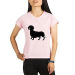 Dachshund Silhouette Performance Dry T-Shirt