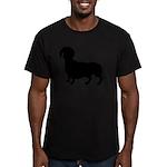 Dachshund Silhouette Men's Fitted T-Shirt (dark)