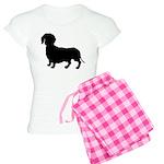Dachshund Silhouette Women's Light Pajamas