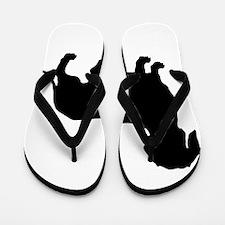 Dachshund Silhouette Flip Flops