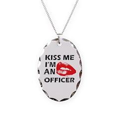Kiss me I'm a Policeman Necklace