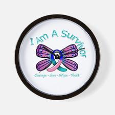 Thyroid Cancer I 'm A Survivor Wall Clock
