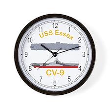 USS Essex CV-9 Wall Clock