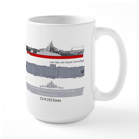 USS Essex CV-9 CVA-9 Large Mug