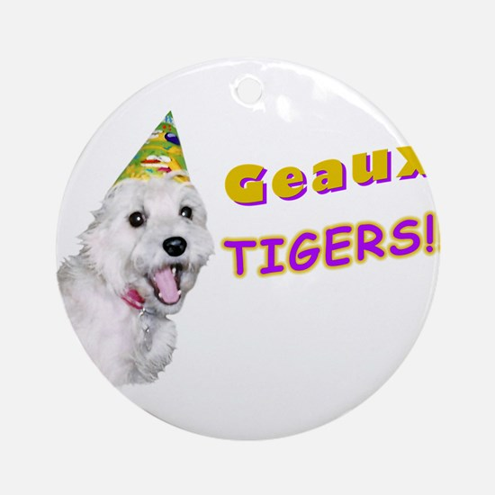 Geaux Tigers! Ornament (Round)