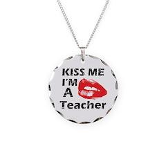 Kiss me I'm a Teacher Necklace