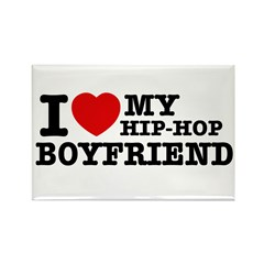 I love my Hiphop Boyfriend Rectangle Magnet