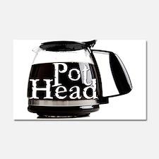 POT HEAD Car Magnet 20 x 12