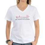 Bored to Death Women's V-Neck T-Shirt