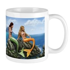 Pensive Mermaids on Rocks Mug