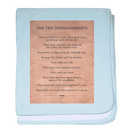 The Ten Commandments baby blanket