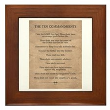 The Ten Commandments Framed Tile