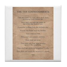 The Ten Commandments Tile Coaster