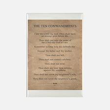 The Ten Commandments Rectangle Magnet