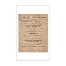 The Ten Commandments Decal