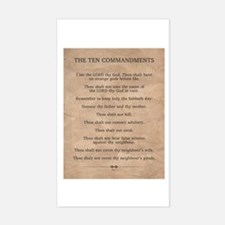 The Ten Commandments Decal