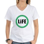 Life Begins At Conception Women's V-Neck T-Shirt