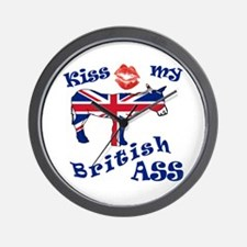 Kiss my democratic ass Wall Clock
