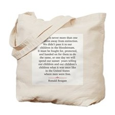 Ronald Reagan Tote Bag